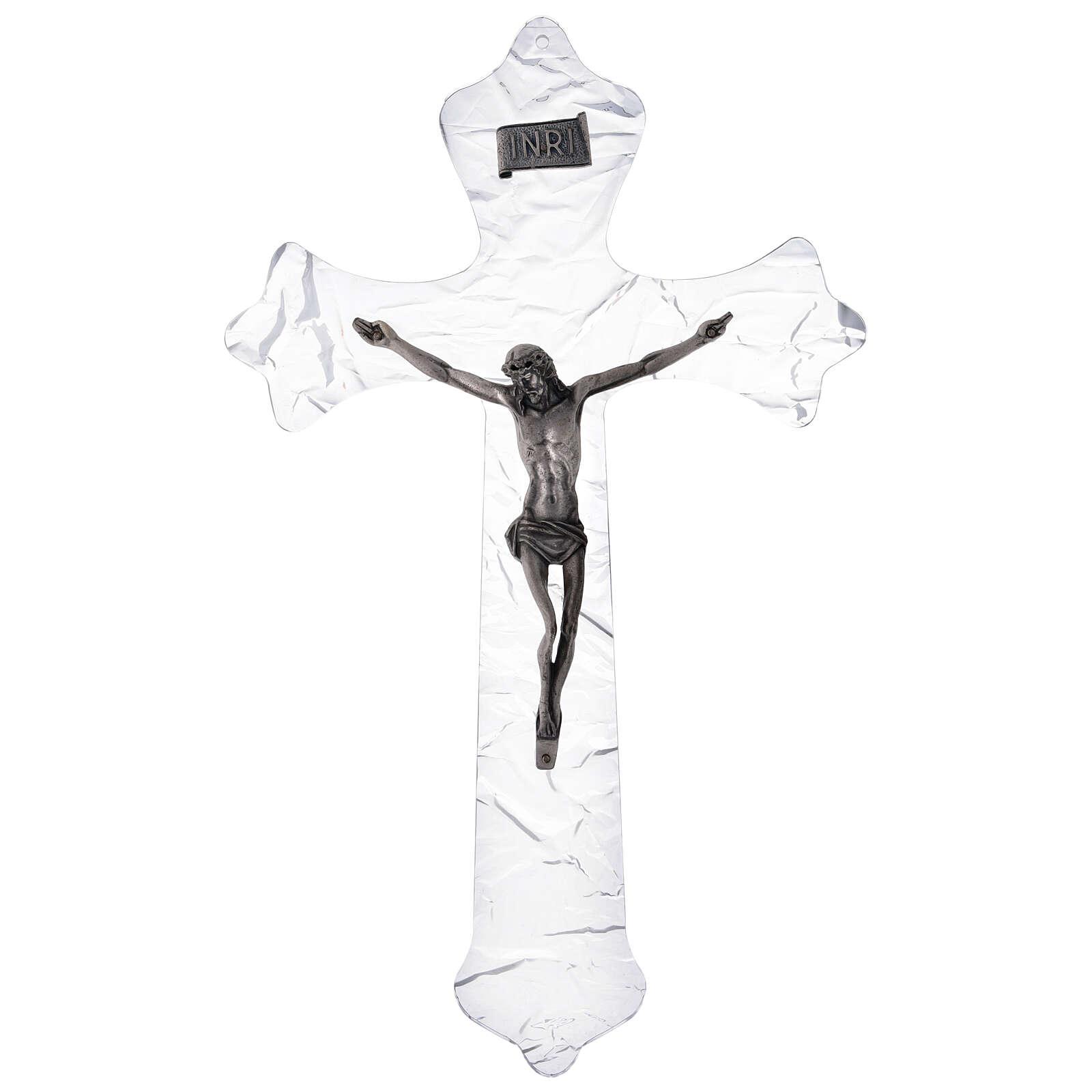 Crucifixo mural em acrílico h 35 cm 4