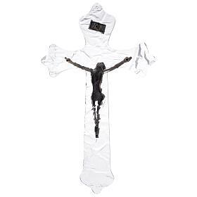 Crucifixo mural em acrílico h 35 cm s4