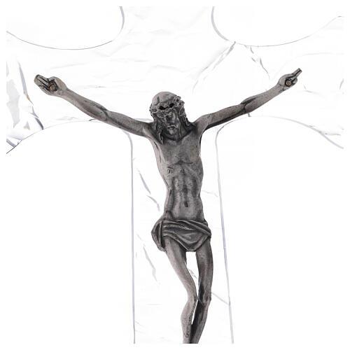 Crucifixo mural em acrílico h 35 cm 2