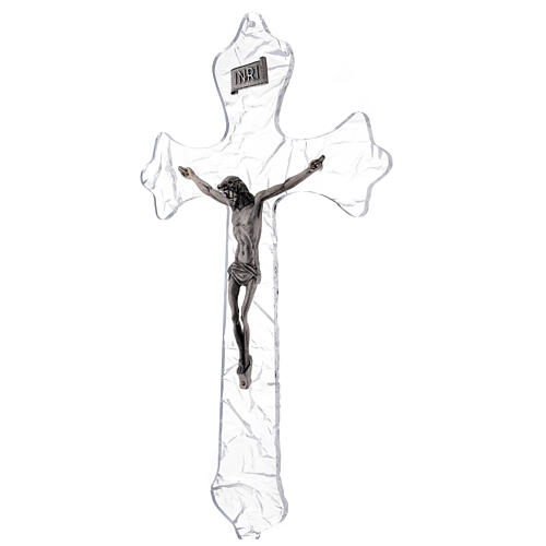 Crucifixo mural em acrílico h 35 cm 3