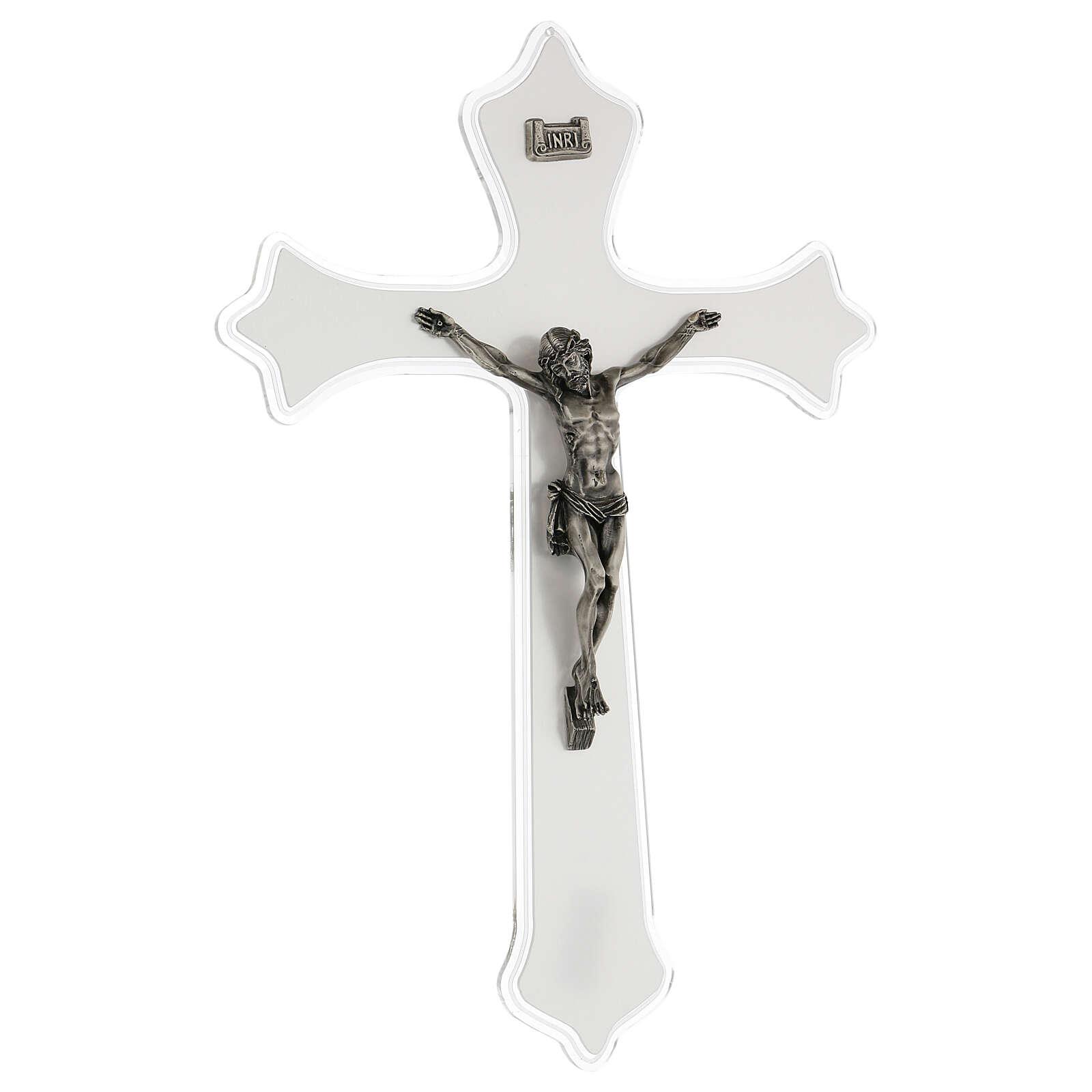 Crucifix mural en plexiglas h 55 cm 4
