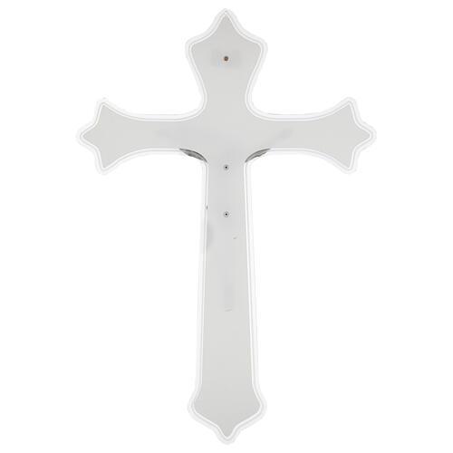 Crucifix mural en plexiglas h 55 cm 3