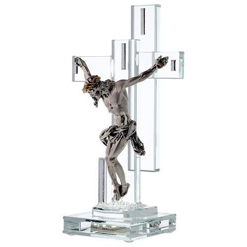 Crucifix avec lampe cristal et corps métal 3