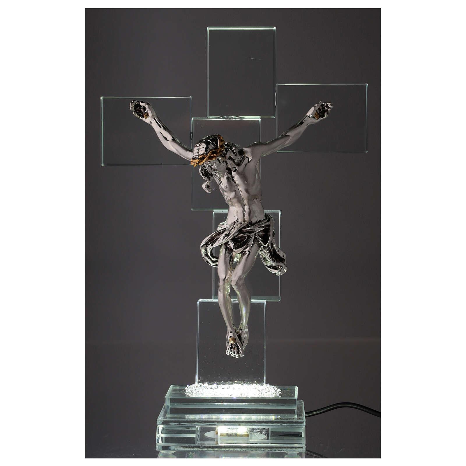 Crucifijo cristal con lámpara 4