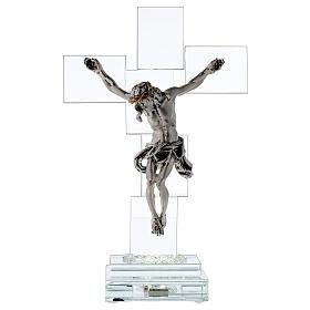 Crucifijo cristal con lámpara s1