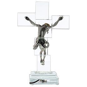 Crucifijo cristal con lámpara s5