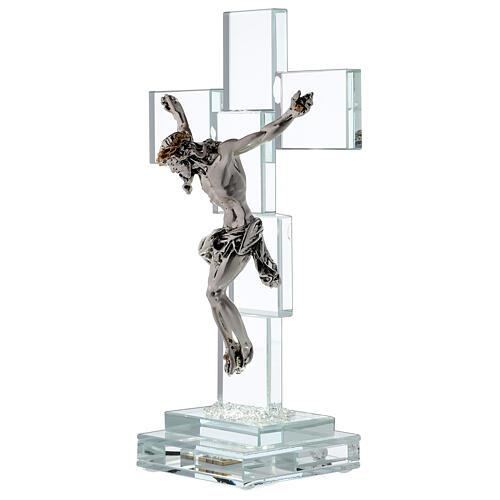 Crucifijo cristal con lámpara 3