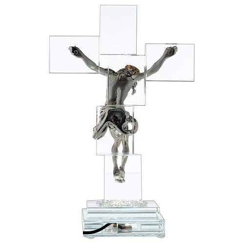 Crucifijo cristal con lámpara 5