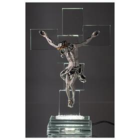 Crocefisso cristallo con lampada s2