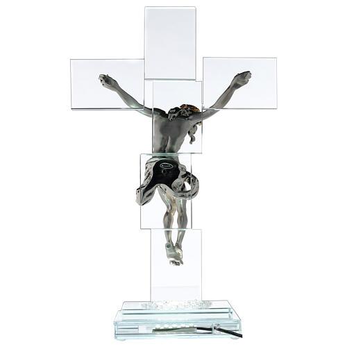 Crucfijo cristal cuerpo metal y lámpara 5