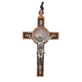 Croce pendente San Benedetto olivo s1