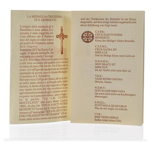 Croce pendente San Benedetto olivo 3