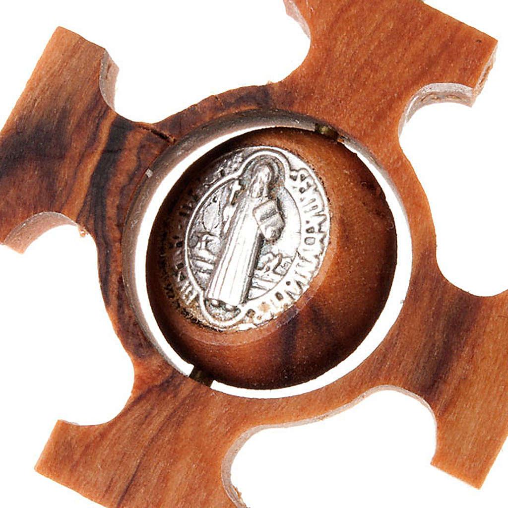 Pendente croce greca girevole san Benedetto 4