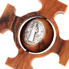 Pendente croce greca girevole san Benedetto s3