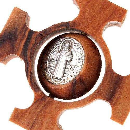 Pendente croce greca girevole san Benedetto 3