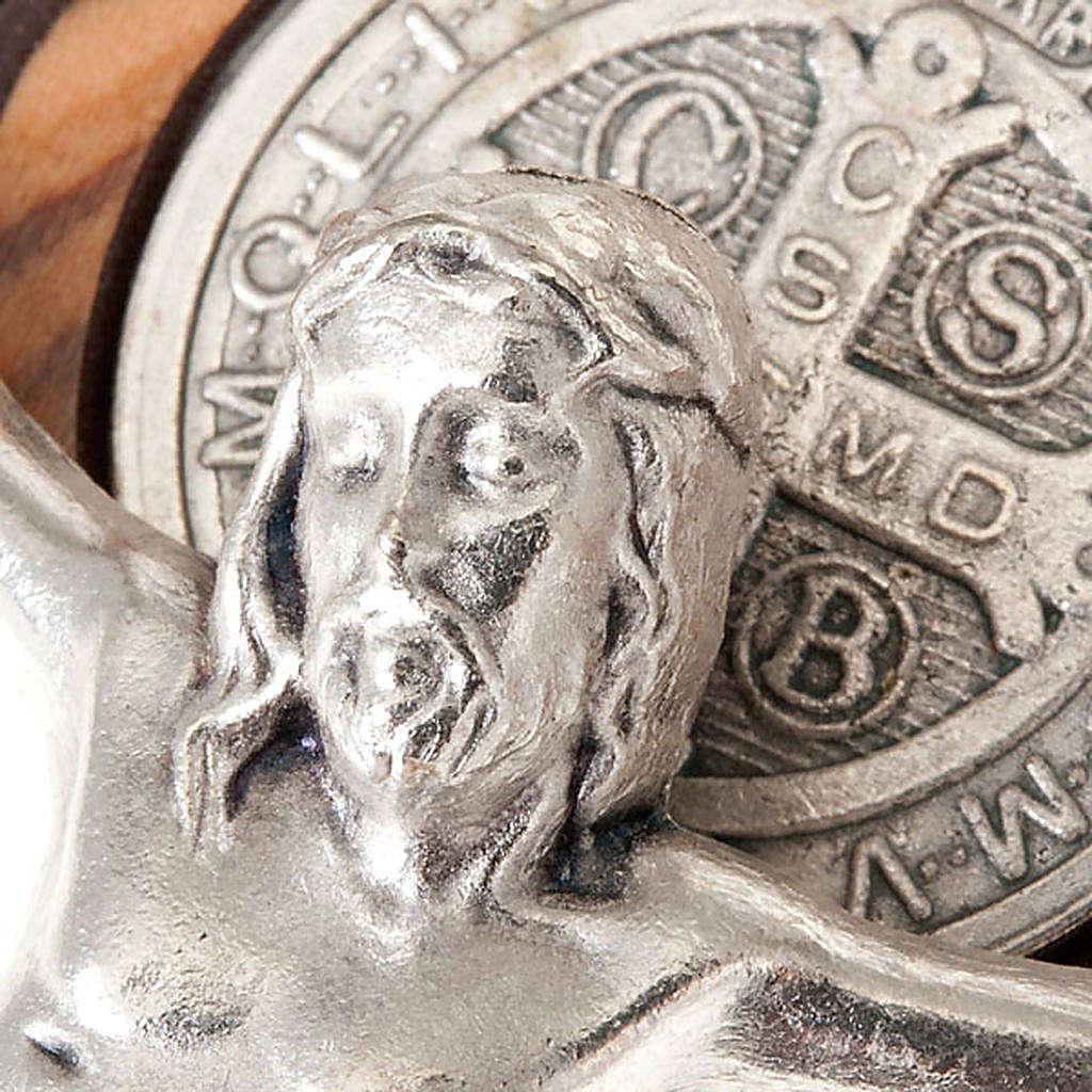 Croce san Benedetto olivo incisa 20 cm 4