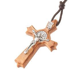 Schmuckanhaenger Kreuz Heilig Benediktus mit Spitzen s1