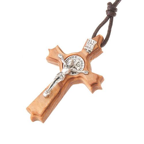 Schmuckanhaenger Kreuz Heilig Benediktus mit Spitzen 1
