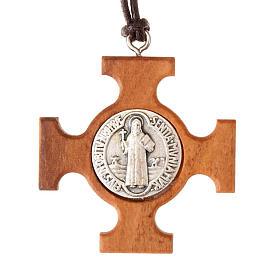 Colgante cruz griega San Benito s1