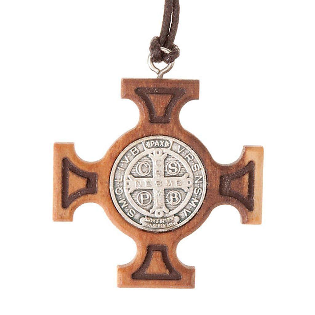 Ciondolo croce greca san Benedetto 4