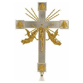 Cruz procesional angeles y rayas s1