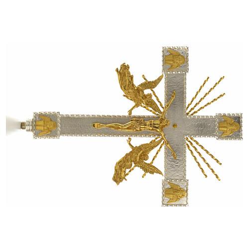 Cruz procesional angeles y rayas 4