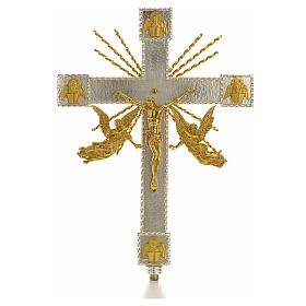Croce astile angeli e raggi s1