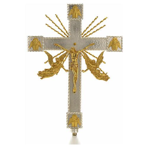 Croce astile angeli e raggi 1