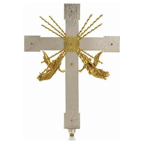 Croce astile angeli e raggi 2