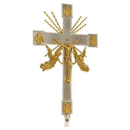 Croce astile angeli e raggi 3