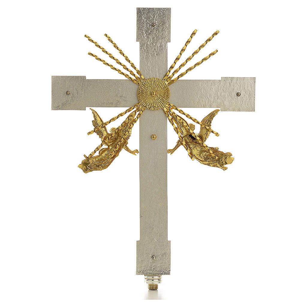 Krzyż procesyjny anioły i promienie 4