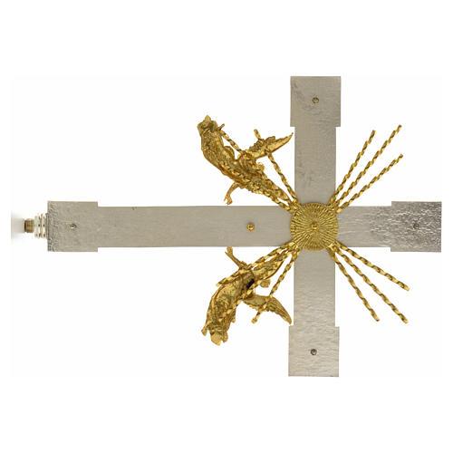 Krzyż procesyjny anioły i promienie 5
