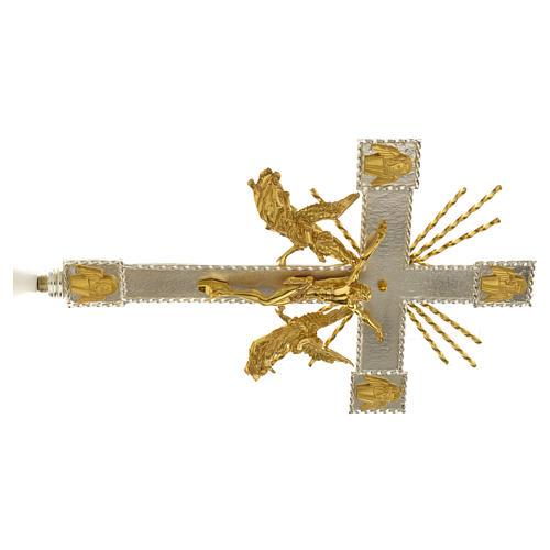 Krzyż procesyjny anioły i promienie 6