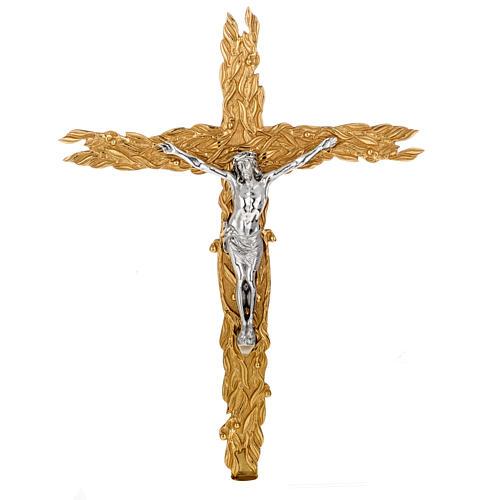 Krzyż procesyjny z liśćmi 1