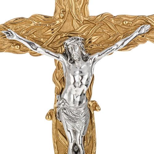Krzyż procesyjny z liśćmi 2