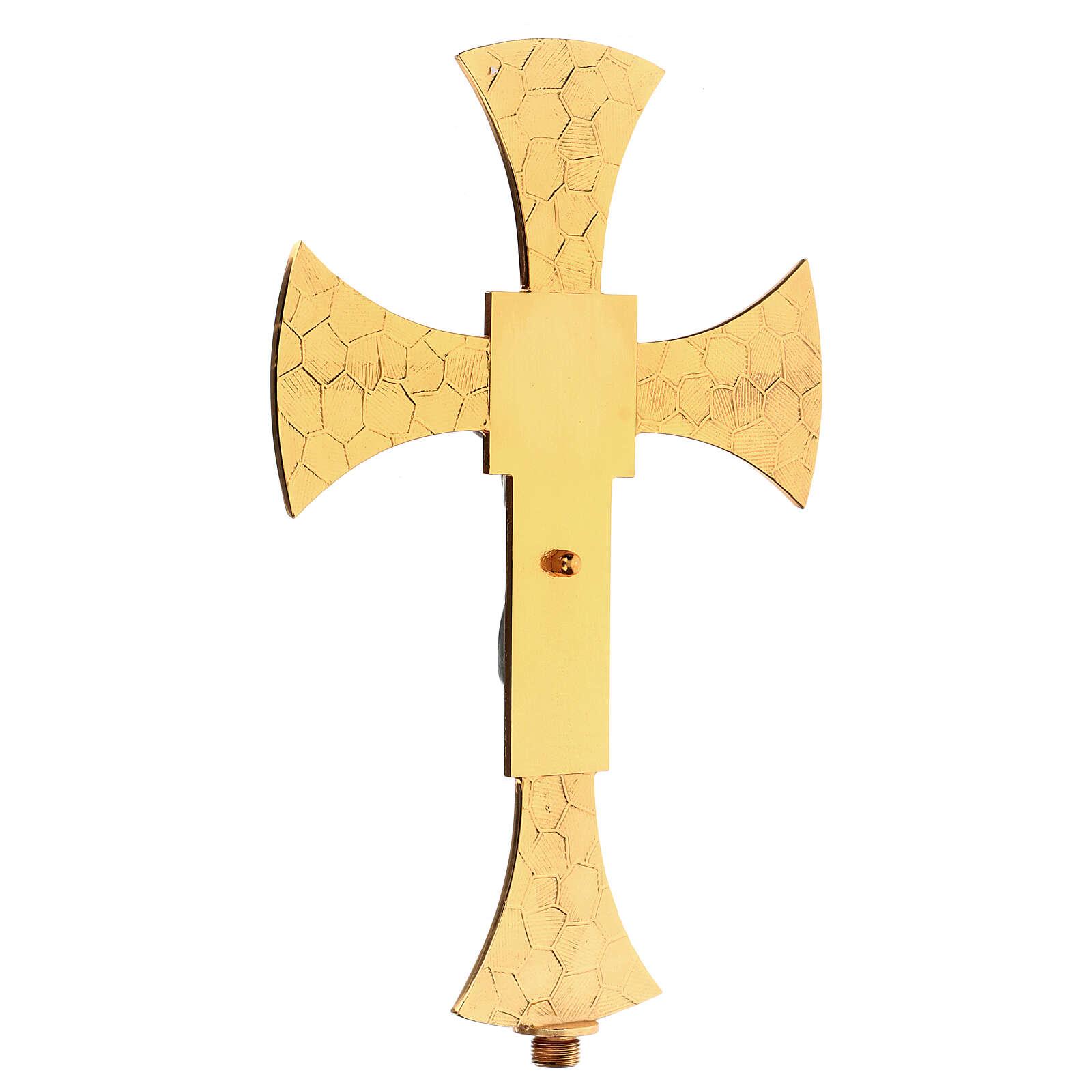 Croce astile con smalto 4