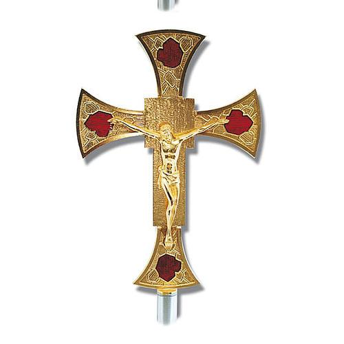 Processional cross glazed 1