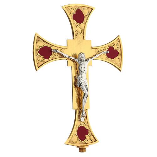 Processional cross glazed 3