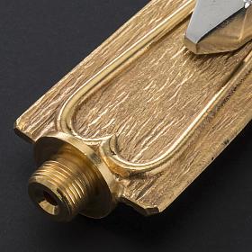 Croce astile metallo lavorato s7