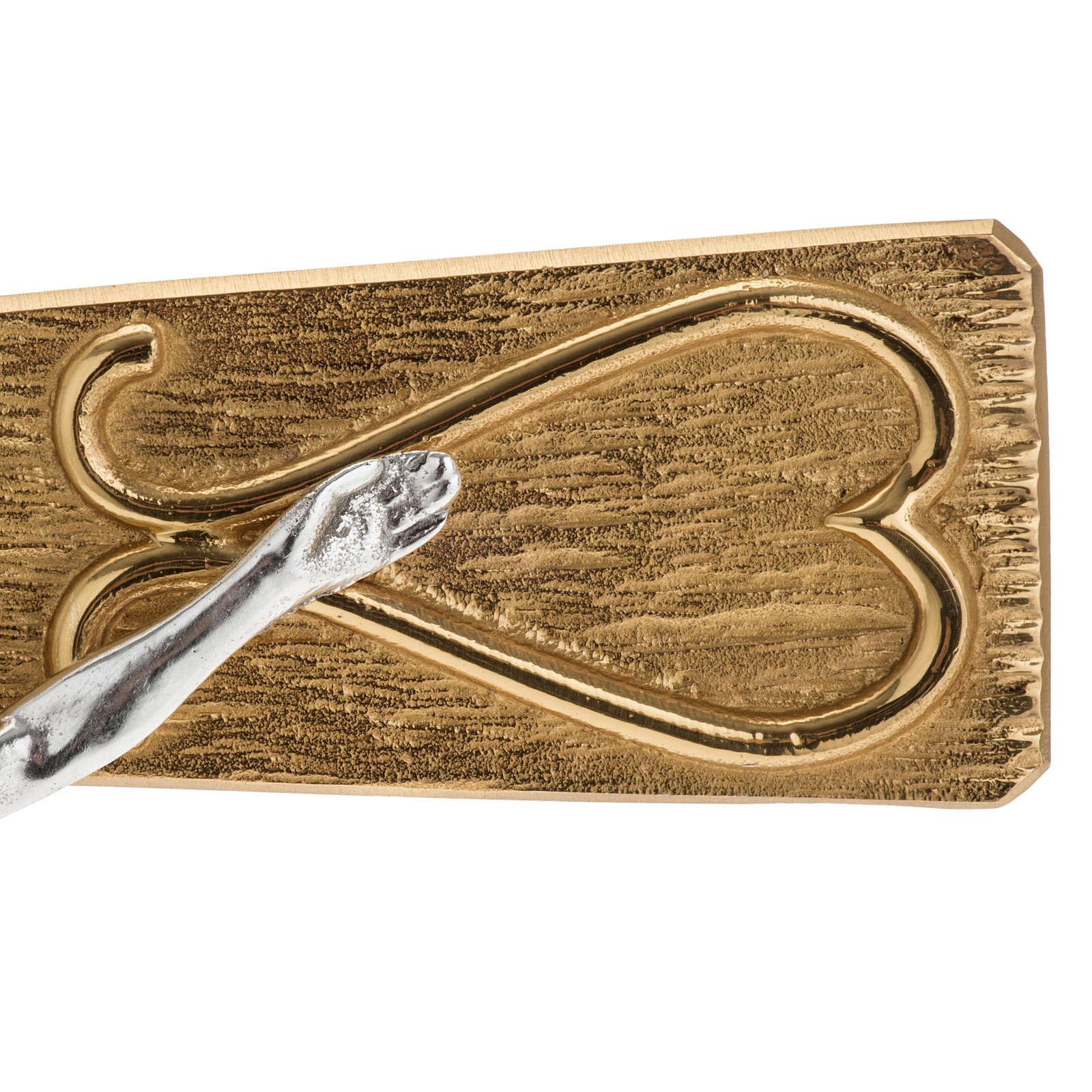 Krzyż procesyjny metal zdobiony 4