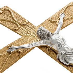 Krzyż procesyjny metal zdobiony s3