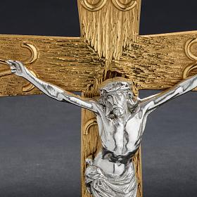 Krzyż procesyjny metal zdobiony s5