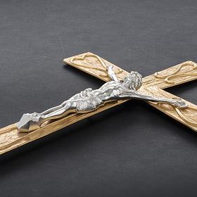 Krzyż procesyjny metal zdobiony s6