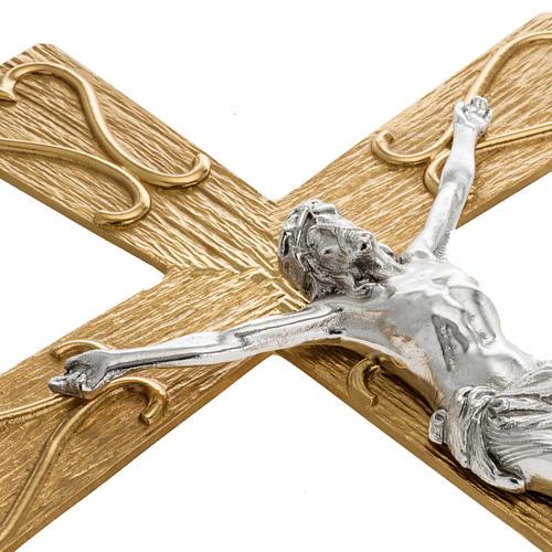 Krzyż procesyjny metal zdobiony 3