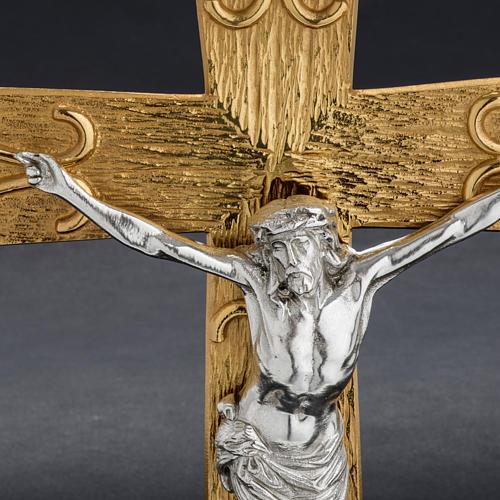 Krzyż procesyjny metal zdobiony 5