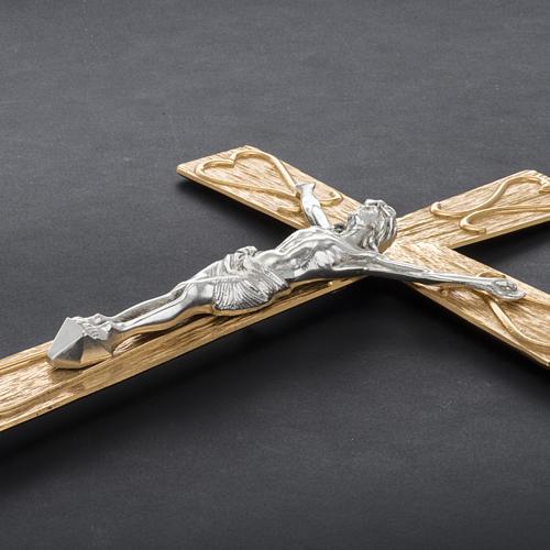 Krzyż procesyjny metal zdobiony 6