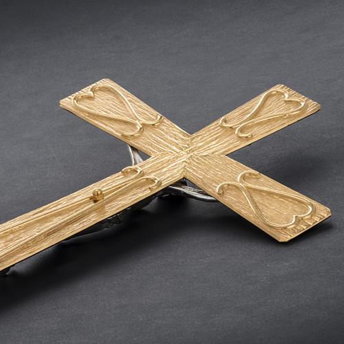 Krzyż procesyjny metal zdobiony 9