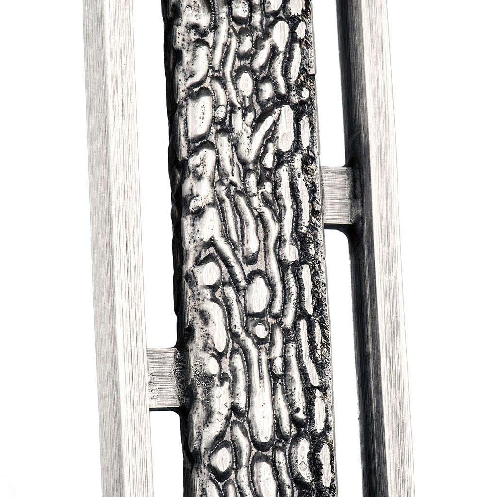 Croce astile stilizzata in bronzo 4