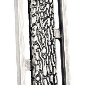 Croce astile stilizzata in bronzo s3