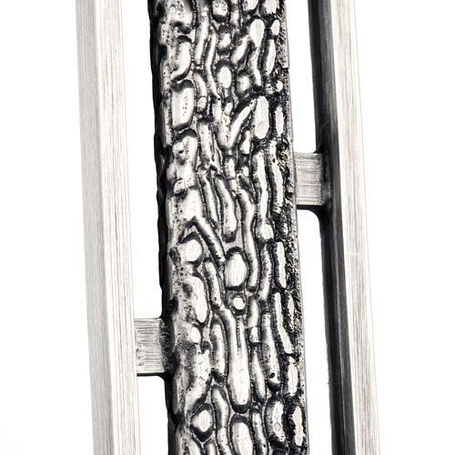 Croce astile stilizzata in bronzo 3